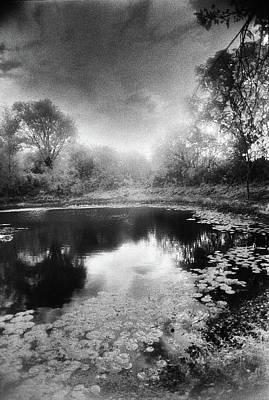 Photograph - Pond, Belgium by Simon Marsden