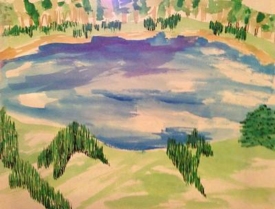 Painting - Pond by Erika Chamberlin