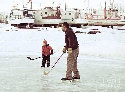 Pond Hockey Photograph - Pond Hockey by Lisa Killins