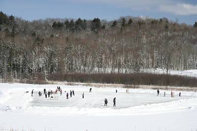 Photograph - Pond Hockey Muskoka by Carolyn Reinhart