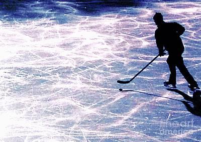 Pond Hockey Digital Art - Pond Hocky by Nick Gustafson