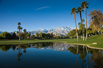 Pond In A Golf Course, Desert Princess Print by Panoramic Images