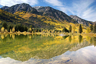 Photograph - Pond In Autumn - Marble Colorado by Daniel Woodrum
