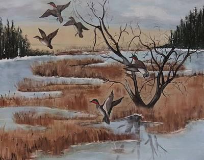 Pond In Fall Art Print