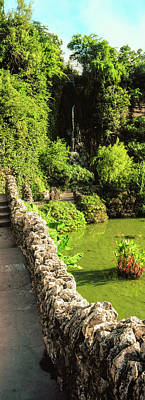 Pond In Japanese Tea Garden, San Art Print