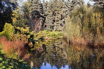 Willow Lake Photograph - Pond In Skaryszewski Park by Artur Bogacki