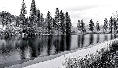Art Print featuring the photograph Pond In Snow by Julia Hassett