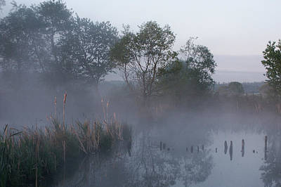Photograph - Pond In The Morning Mist by Jay Evers