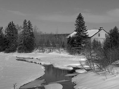 Photograph - Pond In Winter by Gene Cyr