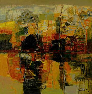 Inverted Painting - pond No.1 by Zheng Li