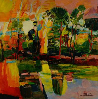 Inverted Painting - pond No.3 by Zheng Li
