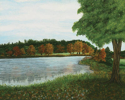Painting - Pond On Townline Roda by Lucinda V VanVleck