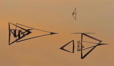 Pond Reeds Sunrise 3 Art Print