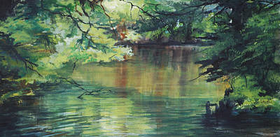 Pond Reflections Art Print
