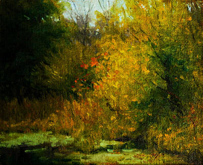 Schmid Painting - Pond Study 14 by William Worcester