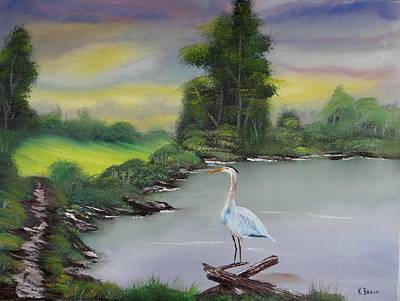 Pond Watching Art Print