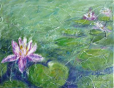 Painting - Green Pond With Water Lily by Cristina Stefan