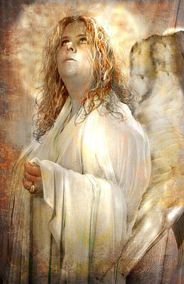 Digital Art - Pondering Angel by Nada Meeks