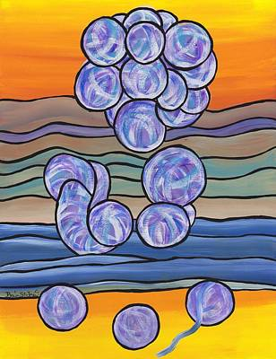 Painting - Pondering Creation - Unravelling The Micro Organisms by Barbara St Jean
