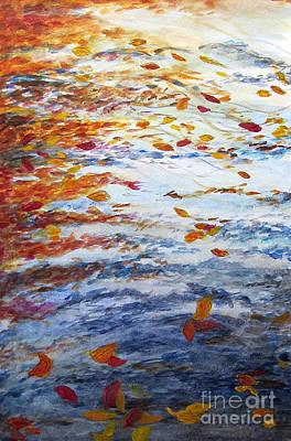 Pondering Leaves Art Print by Jeanne Ward