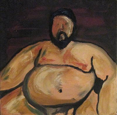 Image result for fat man paintings
