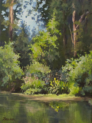 Painting - Pond's Edge by Karen Ilari