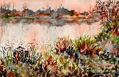 Painting - Ponds Untold Stories by Almo M