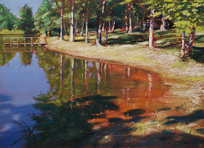 Pastel - Pondside Summer by Christopher Reid