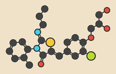 Multiple Sclerosis Photograph - Ponesimod Anti-inflammatory Drug Molecule by Molekuul