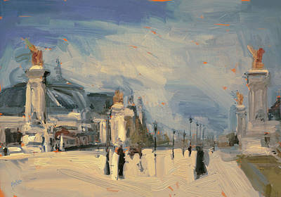 Painting - Pont Alexandre 3 Paris by Nop Briex