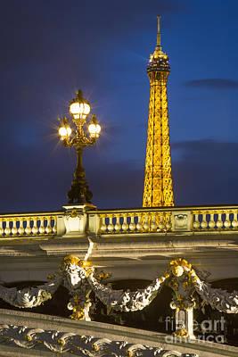 Photograph - Pont Alexandre And Eiffel by Brian Jannsen