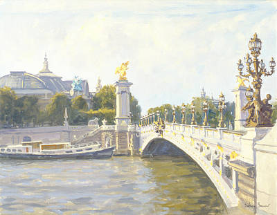 1900 Architecture Painting - Pont Alexandre IIi by Julian Barrow