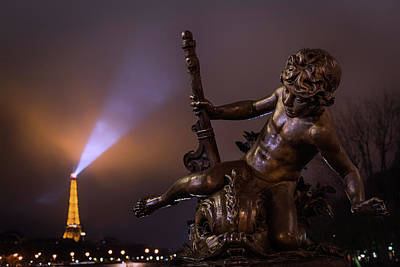 Light Beams Photograph - Pont Alexandre IIi, Paris by Artistname