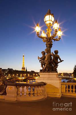 Balusters Photograph - Pont Alexandre IIi - Paris by Brian Jannsen