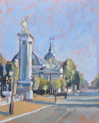 Painting - Pont Alexandre IIi Paris by Nop Briex