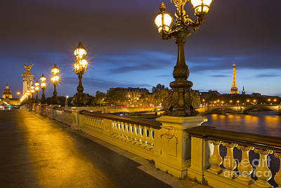 Balusters Photograph - Pont Alexandre IIi Twilight by Brian Jannsen