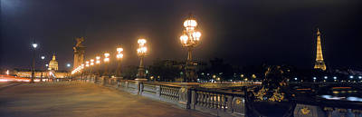 Invalides Photograph - Pont Alexandre IIi With The Eiffel by Panoramic Images