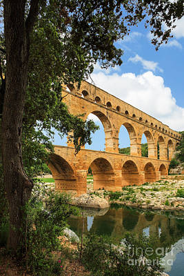 France Provence Photograph - Pont Du Gard by Inge Johnsson