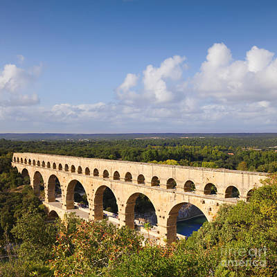 Pont Du Gard Roman Aqueduct Languedoc Roussillon France Art Print by Colin and Linda McKie