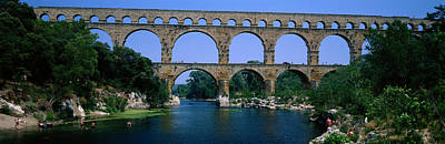 Repetition Photograph - Pont Du Gard Roman Aqueduct Provence by Panoramic Images