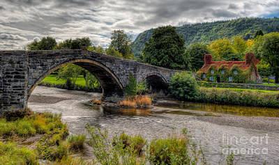Llanrwst Digital Art - Pont Fawr 1636 by Adrian Evans