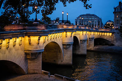 Photograph - Pont Neuf Bridge - Paris France I by Georgia Mizuleva