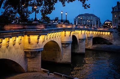 Pont Neuf Bridge - Paris France I Art Print by Georgia Mizuleva