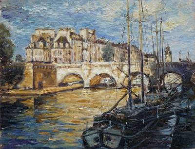 Seine Painting - Pont Neuf Paris by Irek Szelag