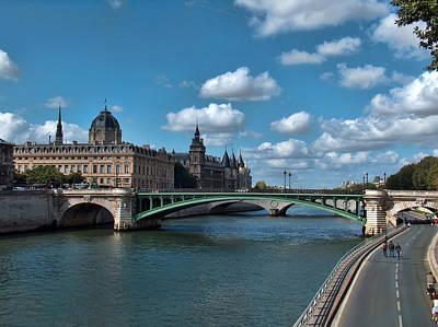 Liberte Photograph - Pont Notre Dame by Paris  France