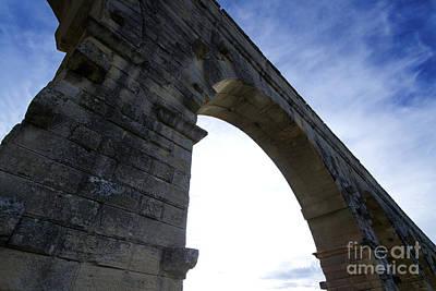 Part Of Photograph - Pont Of Gard. France by Bernard Jaubert