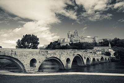 Pont Vieux Bridge With Cathedrale Art Print by Panoramic Images