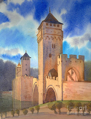 Painting - Pont Volontre Cahors France by Katia Weyher