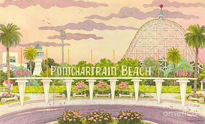 Amusement Parks Painting - Pontchartrain Beach by Joyce Hensley