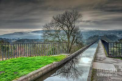 Aqueduct Digital Art - Pontcysyllte Aqueduct by Adrian Evans